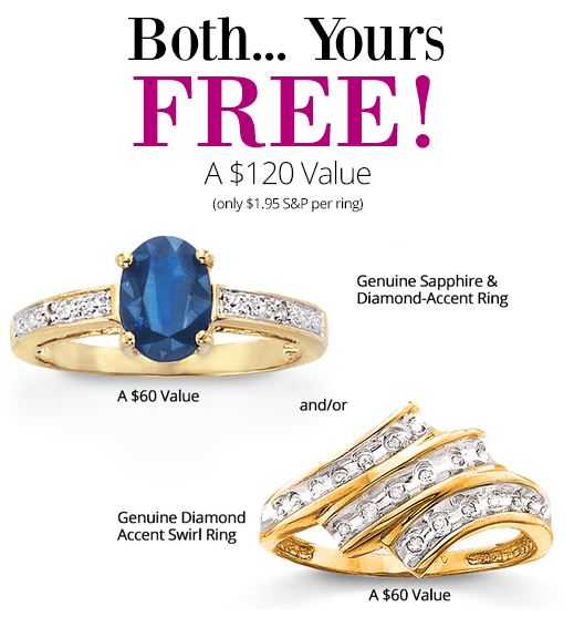 Get These 2 Ring For Free (S&H 1.95 Each)